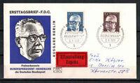 Berlin, FDC + Eilzustellung Heinemann MiNr. 365 + 366 ESSt Berlin 08.04.1971
