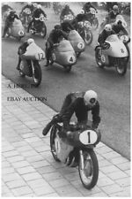 Gilera 500cc four cylinder Geoff Duke 1954 Start Dutch TT MV Agusta Moto Guzzi