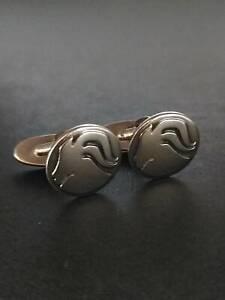 GEORG JENSEN Sterling Silver Cufflinks Capricorn #176 Very rare 925 S Denmark