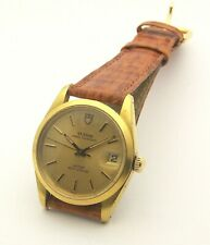 Tudor Prince Oysterdate Gold Plated Model 74001 34mm Automatic Rolex 1980's
