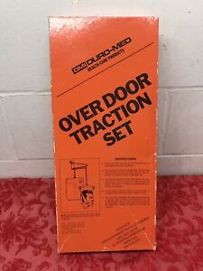 DMI Duro-Med Health Care Product Over Door Head Neck Traction Set Used