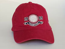 Children's Place Baseball Cap Hat Embroidered Cotton Red Volleyball 1989  8-14