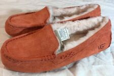 UGG ANSLEY 3312 100% AUTHENTIC SIZE 11  VIBRANT CORAL WOMAN SLIPPERS/MOCCASINS