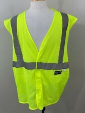 Walls Mens Neon Work Wear 3m Reflective Material Safety Vests Size 2xl