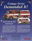 Fire Equipment Brochure - Custom Fire - Pumper Tanker Cottage Grove - Ad (DB278)