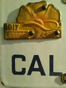 REPLICA-----1917 California License Plate /Tab / Tag-- POPPY---REPLICA--