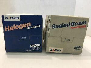 Wagner H5001 High Beam Halogen Headlamp, Sealed Beam 5001 Lot Of 2