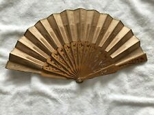 Antique Hand Fan Made from Wood and Fabric