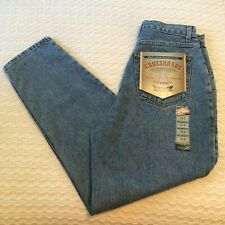 Crossroads Womens Denim Blue Jeans Relaxed Fit Tapered Leg Size 12 Short NWT
