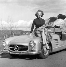 SOPHIA LOREN POSTER PAGE . MERCEDES-BENZ 300SL GULLWING CAR . SC55