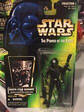 Death Star Gunner Star Wars POTF2 Power Of Force 1996 No Holo Green MOC .01 Army