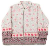 VGC Vintage Snowflake Fleece Jacket | Women's XL | Coat Retro Winter Sherpa