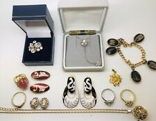 12 Vintage Jewellery job lot mixed fashion jewellery Car Boot Re Stock items