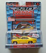 Maisto Pro Rodz Pro Touring Diecast '70 Chevrolet Nova Yellow 1:64 NIP 2005
