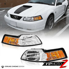 Ford Mustang 99-04 GT V8 Crystal Clear Headlight Signal Lamp w/ Amber Left+Right