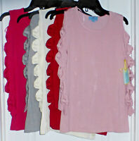 CeCe Womens 3/4 Split Sleeve Open Shoulder Pullover Sweater, Various, $99, NWT