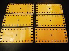 MECCANO 6 Yellow 2.5 x 5.5 inch Flexible Plates 192