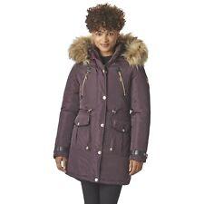 Rocawear Women's Hooded Anorak Winter Jacket, Size LARGE, Wine