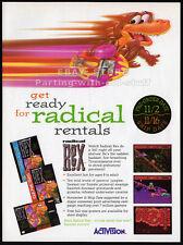 RADICAL REX__Orig. 1994 Trade print AD / game promo__ACTIVISION__Nintendo_Sega