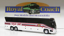 "Gold Line on an 11"" Brand New Mold Mci ""J"" Plastic Bank Bus"