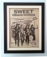 The SWEET*Teenage Rampage*1974*ORIGINAL*POSTER*AD*FRAMED*FAST WORLD SHIP