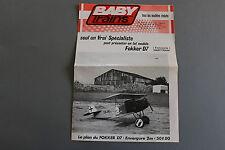 W960BABY TRAINS  depliantHo 6 pages 30*21 cm F avion fokker D7 radiocommande