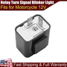 2Pin Adjustable LED Flasher Relay Turn Signal Blinker Light For Motorcycle 12V