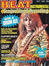 Beat Instrumental Magazine October 1976 Bad Company, Eric Clapton