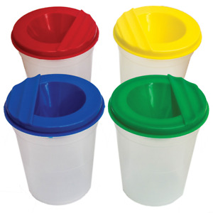 x4 Non Spill Paint Pots For Kids Educational Art & Crafts Activities Painting