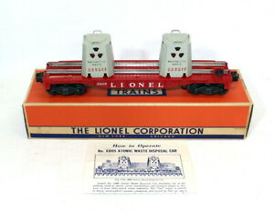 Postwar Lionel 6805 Atomic Energy Disposal Car~All Original~w/Nice OB & Inst.
