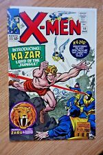 1965 MARVEL X-MEN #10 1ST SILVER AGE KA-ZAR UNPRESSED