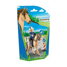 Playmobil Country Mounted Police With Horse Building Set 9260 NEW Learning