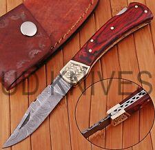 UD KNIVES CUSTOM HAND FORGED DAMASCUS STEEL POCKET FOLDING HUNTING KNIFE OT-5784