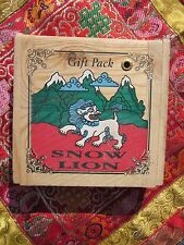 SPECIAL GIFT PACK SNOW LION DHOOP INCENSE w/ WOOD BOX & built in BURNER NEPAL