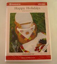 2000 HUSQVARNA VIKING Embroidery Floppy Ecard 42 Happy Holidays 33 Designs