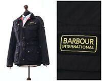 Women's BARBOUR INTERNATIONAL Motorcycle Jacket Coat Nylon Black Size UK 10 US 6