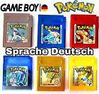 Pokemon GBC Kristall Gold Silber Rot Blau Gelb Edition auf Deutsch Gameboy Color <br/> 1+1 kaufen Das Spiel auswählen in den Warenkorb klicken