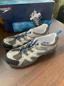 New Speedo Men's Hydro Comfort 3.0 Water Shoes Blue Grey Pick Size