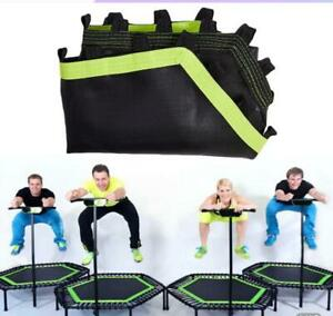 Foldable Mini Trampoline with Foam Handle Jumping Exercise Trampoline