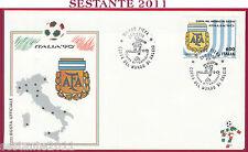 ITALIA FDC ARGENTINA COPPA DEL MONDO ITALIA '90 MONDIALI 1990 MILANO T187