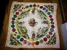 Vintage 1970's quirky Bonnie Scotland all the clans tartan designs print scarf