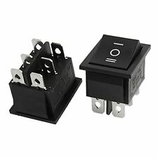 2x 6 pin SPDT ON-OFF-ON 3 posizione in SNAP-INTERRUTTORE 15a/250v 20a/125v AC GY