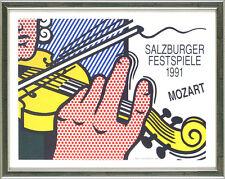 Roy Lichtenstein (1923-1997), Mozart - Salzburger Festspiele, 1991