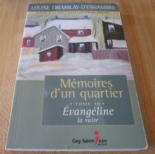 Soft Cover French Book Mémoires D'un Quartier Tome 10 Évangéline la Suite