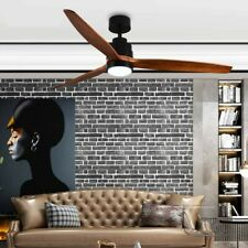 "Modern Solid wood 52"" 3 blade fan.  Walnut finish, indoor/outdoor, DC Motor"