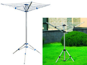 NEW 4 ARM ALUMINIUM ROTARY AIRER DRYER CLOTHES STAND FREE STANDING CARAVAN