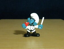 Smurfs Police Officer White Uniform Smurf Portugal Figure Vintage Peyo Lot 20123