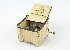 Personalized Hand Crank Wooden Music Box (Romeo & Juliet)