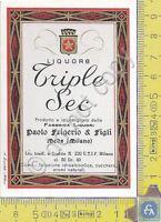 Etichetta - Label - Triple Sec - FRIGERIO & FIGLI - Meda - Anni 60/70