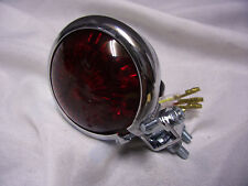 Chrome Bates led back tail light for custom chopper bobber hotrod lowrider